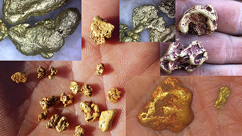 Figure 2. Selected gold nuggets